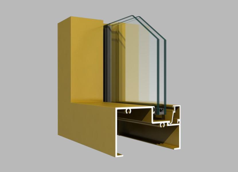 100B aluminum Curtain Wall extrusion profiles