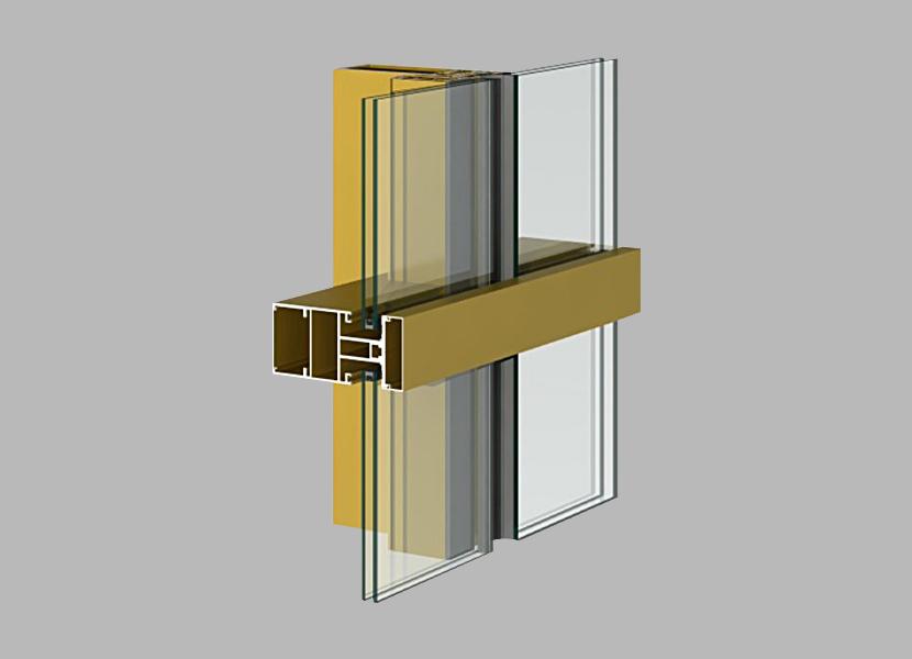 125 Curtain Wall aluminum alloy profile