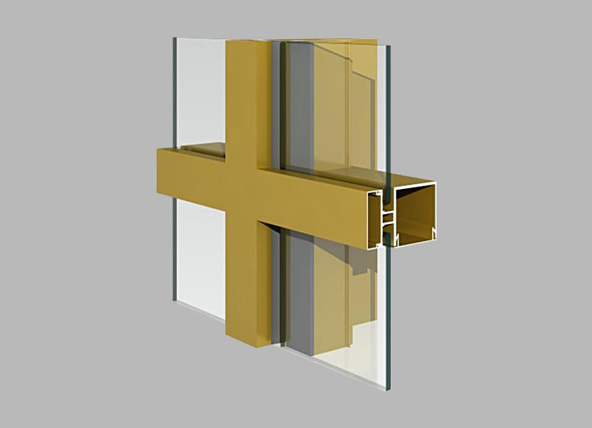 140A Curtain Wall aluminum extrusion profile