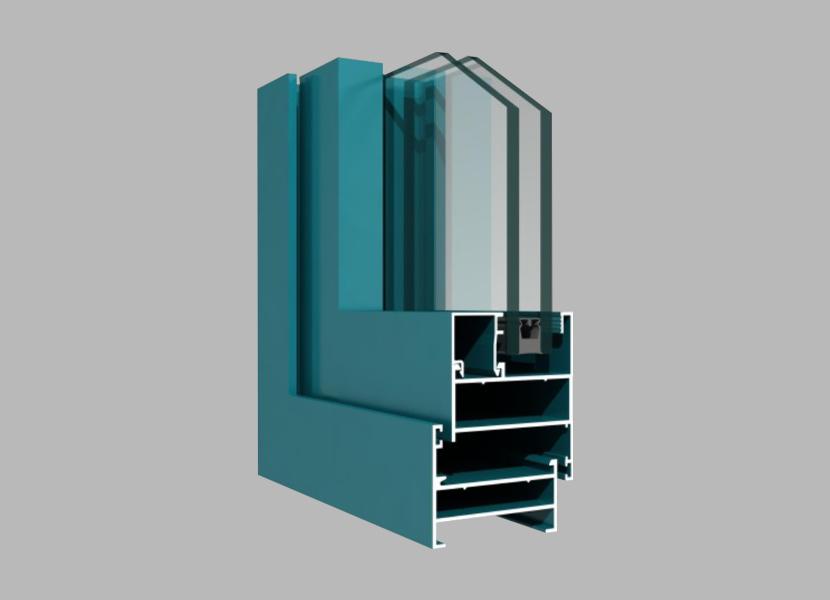 50C Side-hung Window aluminum extrusion profile