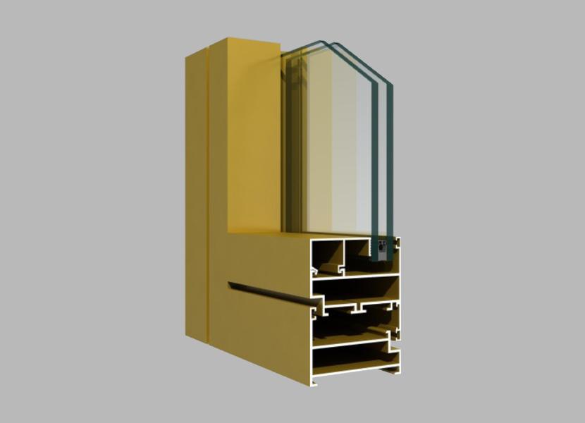 63A Side-hung Window frame powder coating aluminum profiles