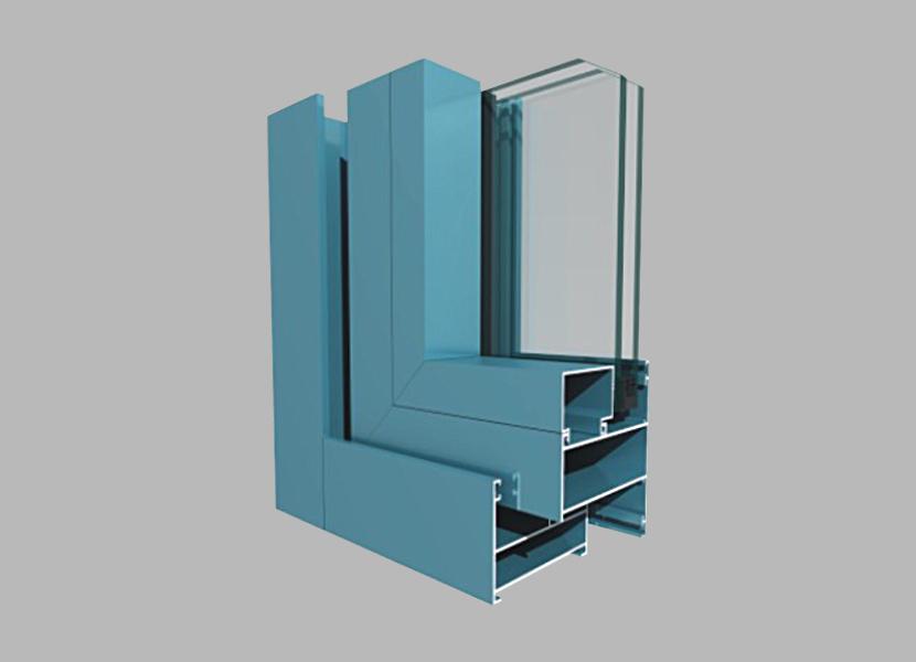 A63 Side-hung Window aluminium section