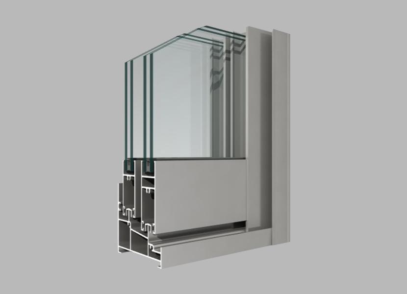 B80 sliding window industrial extrusion  profile