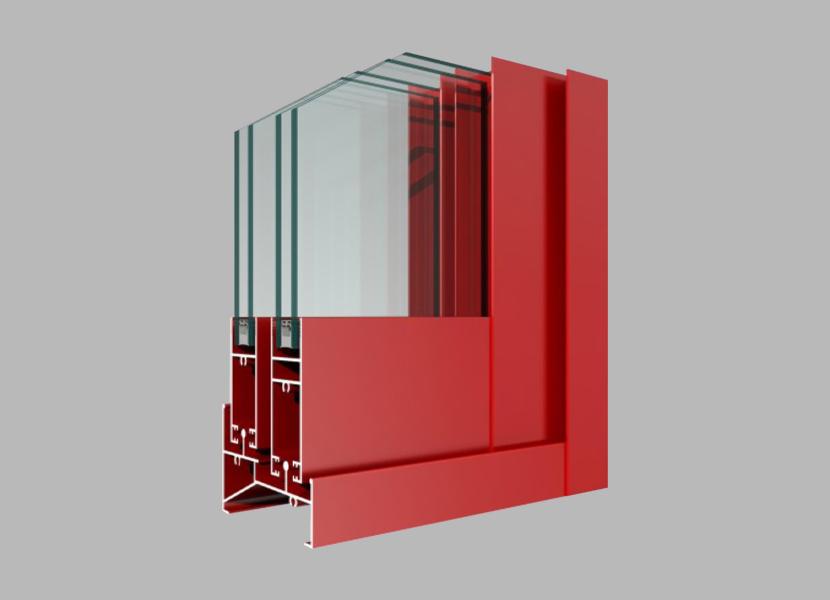 K85 Powder Coated Aluminum Extrusion for Sliding Window