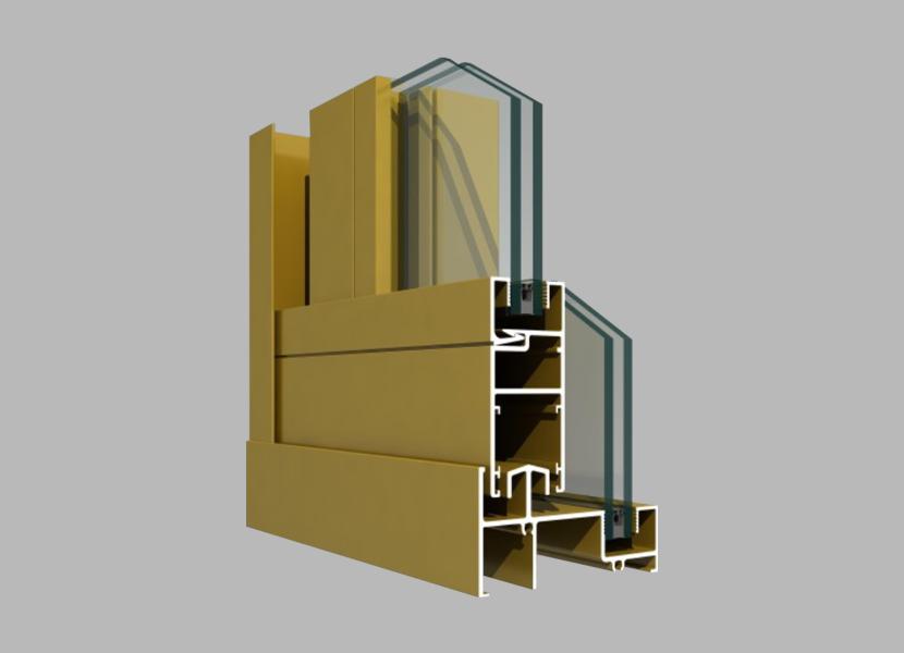 K96 aluminium section for Sliding Door