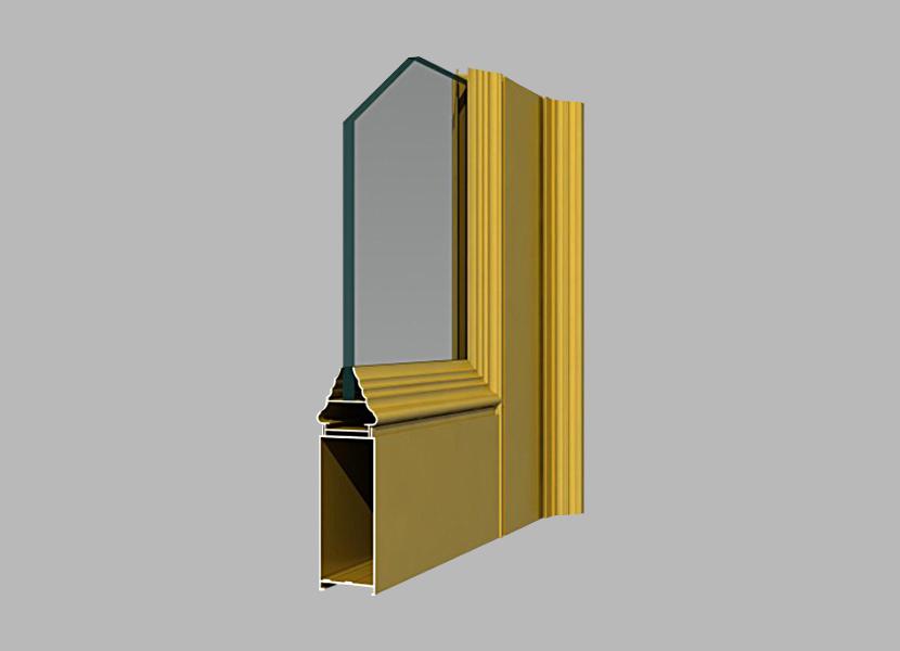 P45 Side-hung Door frame powder coating aluminum profiles
